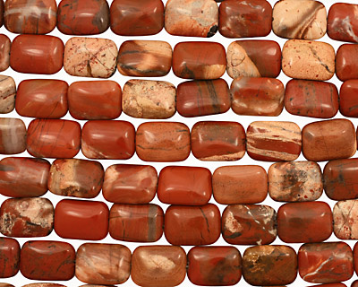 Red Bend Jasper Thin Pillow 18x13mm
