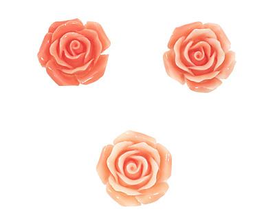 Coral (imitation), Angel Skin Pink Carved Rose 25mm