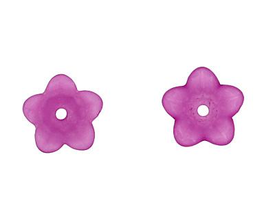 Lucite Phlox 5 Petal Petunia Flower 7x11mm