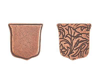 Nunn Design Antique Copper (plated) Crest Ensign Tag 17mm