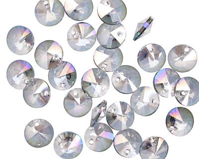 Luster Blue Crystal Rivoli Drop 4x8mm