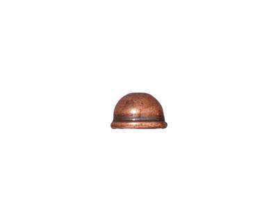 TierraCast Antique Copper (plated) Classic Dome Bead Cap 6x9mm