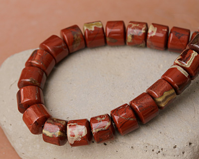 Red Bend Jasper Large Heishi 12mm
