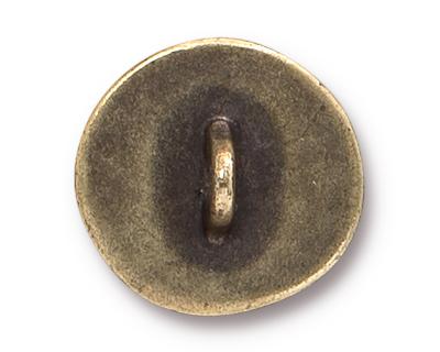 TierraCast Antique Brass (plated) Sand Dollar Button 16mm