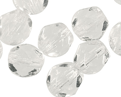 Czech Fire Polished Glass Crystal Round 6mm