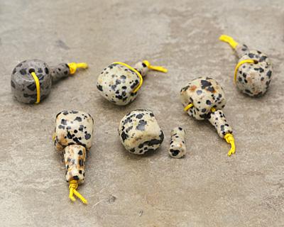 Dalmatian Jasper Barrel Guru Bead 14mm