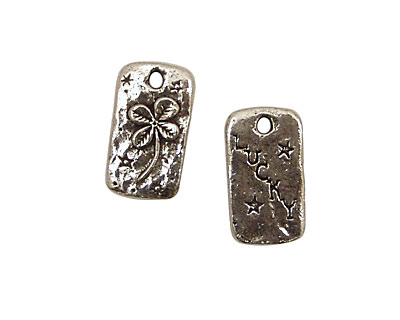Green Girl Pewter Lucky Charm 12x22mm