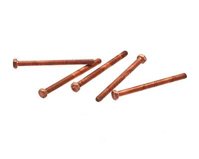 Copper (plated) Hex Head Machine Screw 0-80x3/4