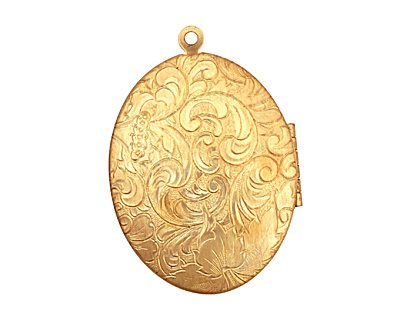 Brass Oval Garden Heirloom Locket 33x47mm