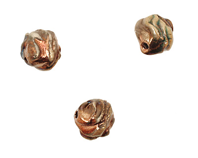 XAZ Raku Gold Luster Small Orb 13-14mm