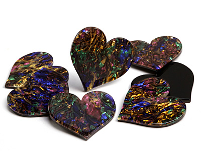 Zola Elements Abalone Acetate Heart Focal 35mm