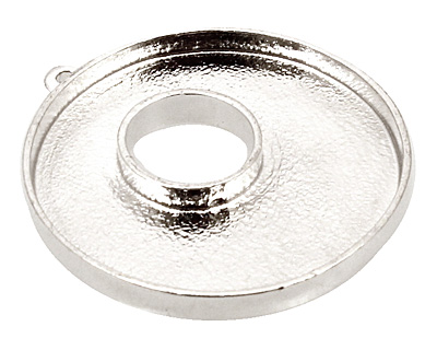 Nunn Design Sterling Silver (plated) Grande Circle Bezel Toggle 37x32mm