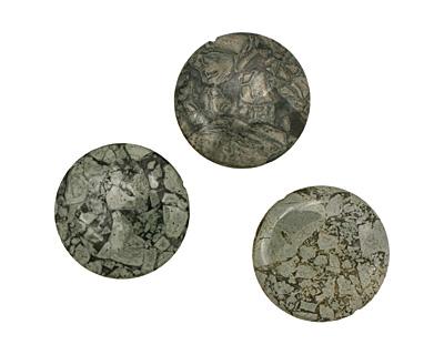 Silver Mist Jasper Puff Coin 40mm