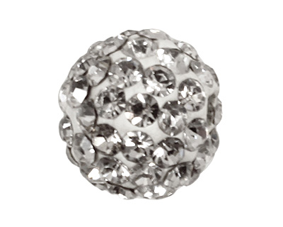 Crystal Pave Round 8mm