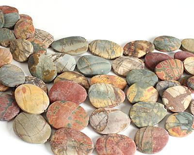Red Creek Jasper (matte) Flat Freeform Slab 27-42x22-35mm