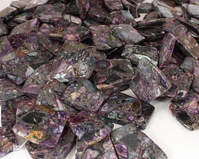 Purple Mosaic Stone w/ Pyrite Graduated Ladder 24-28x20-34mm