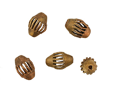 African Brass Cage Rice 30-32x20-22mm