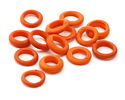 African Recycled Glass Matte Carrot Dogun Mini Ring 10-14mm