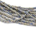 Sky Blue Crackle Porcelain Tumbled Rondelle 5x7mm