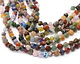 Multi Gemstone (Sodalite, Tiger Eye, Red Jasper, Aventurine) Star Cut Round 7-8mm
