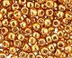 TOHO Permanent Galvanized Old Gold Round 11/0 Seed Bead