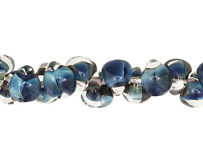 Unicorne Beads Blue Teardrop 7x9mm