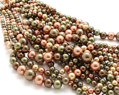 Harvest Shell Pearl Mix Graduated Round 8-16mm