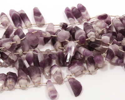 Dogtooth Amethyst Faceted Freeform Drop 8-11x16-30mm