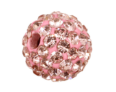 Light Rose Pave Round 8mm