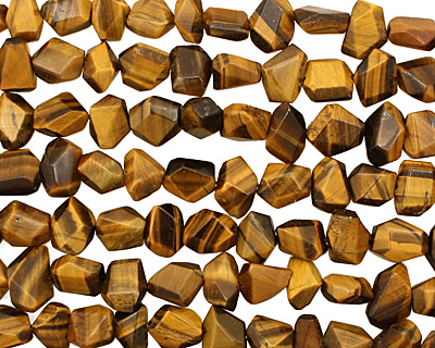 Tiger Eye Faceted Nugget 7-11x9-16mm