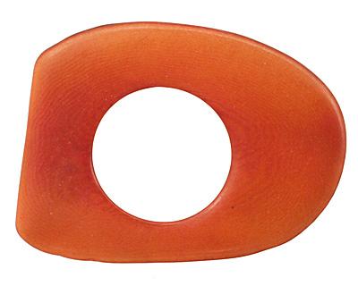 Tagua Nut Orange Open Slice 33-45x24-36mm