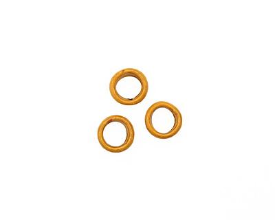 C-Koop Enameled Metal Dark Mustard Ring 10-11mm