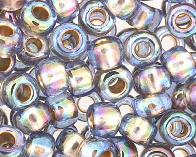 TOHO Rainbow Light Sapphire (with Gold Lining) Round 6/0 Seed Bead