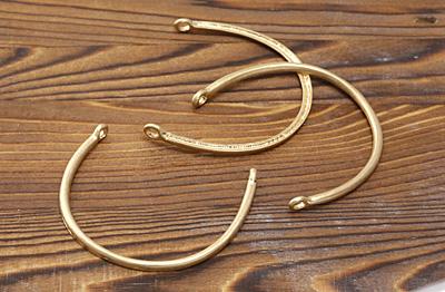 Zola Elements Matte Gold (plated) Large U-Shape Focal Link 58x50mm