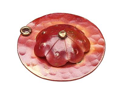 Patricia Healey Copper Spiral Bead Cap 4x15mm