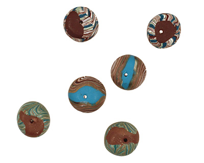 Humble Beads Polymer Clay Woodland Tiny Disk 7x10-11mm