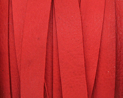 Red Deertan Leather Lace 10mm