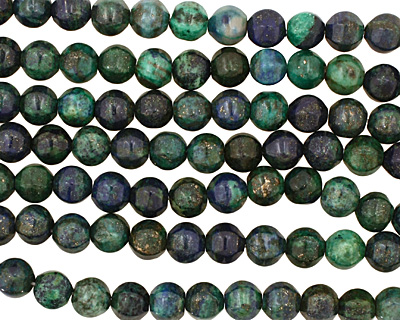 Chrysocolla 6-Sided Round 10mm