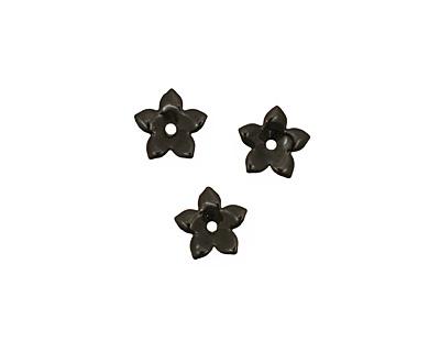 C-Koop Enameled Metal Black Small 5 Petal 12mm