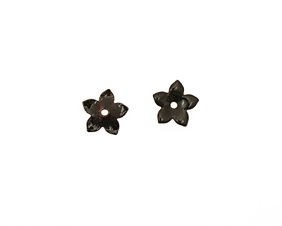 C-Koop Enameled Metal Black Small 5 Petal 12mm