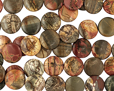 Red Creek Jasper Puff Coin 30mm