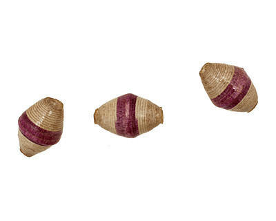 African Paper (eggplant, gray) Rice 24-26x16-17mm