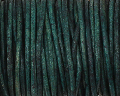 Natural Blue Round Leather Cord 1.5mm