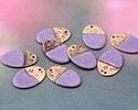 Gaea Copper Lavender Enamel w/ Stars Oval Focal 13x19mm