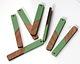 Walnut Wood & Vintage Turquoise Resin Stick Focal 8x52mm