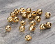 Gold (plated) Faceted Round Bead (large hole) 6mm
