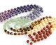Chakra Mix (Amethyst, Lapis, Brazil Sodalite, Green Aventurine, Tiger Eye, Yellow Calcite, Red Jasper) Energy Tube 6x5mm