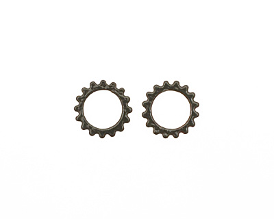 C-Koop Enameled Metal Steel Gray Small Open Gear 16mm