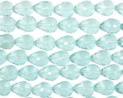 Aquamarine (syn) Faceted Teardrop 20x15mm