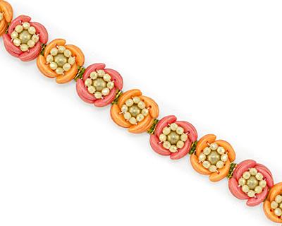 Luna Rose Bracelet Pattern for CzechMates